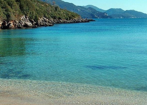 zavia beach in sivota